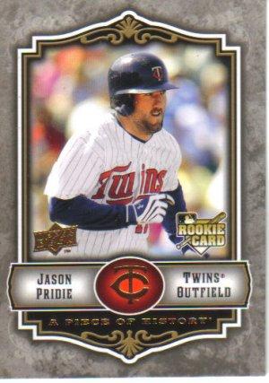 2009 Upper Deck Piece of History  #144 Jason Pridie  RC  Twins