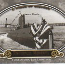 2009 Upper Deck Piece of History  #153 First Atomic Sub Launched   Historical Moments