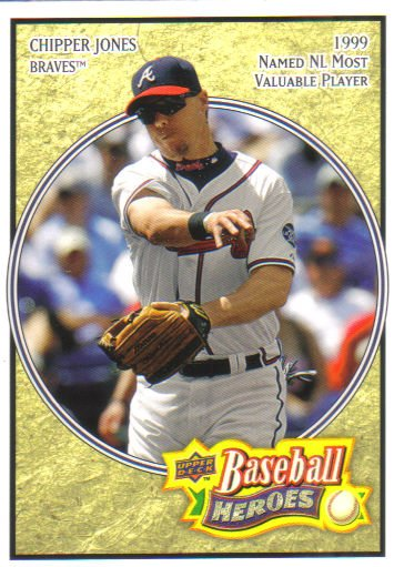 2008 Upper Deck Heroes  #6 Chipper Jones   Braves