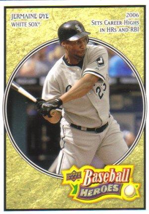 2008 Upper Deck Heroes  #43 Jermaine Dye   White Sox