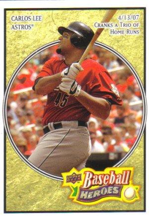 2008 Upper Deck Heroes  #75 Carlos Lee   Astros