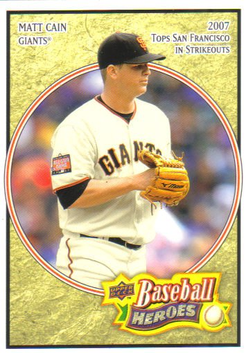 2008 Upper Deck Heroes  #80 Matt Cain   Giants