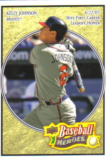 2008 Upper Deck Heroes  #95 Kelly Johnson   Braves