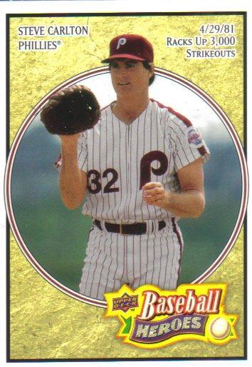 2008 Upper Deck Heroes  #139 Steve Carlton   Phillies