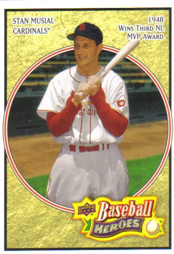 2008 Upper Deck Heroes  #162 Stan Musial   Cardinals