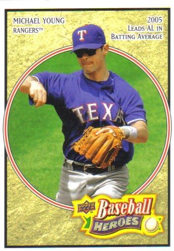 2008 Upper Deck Heroes  #167 Michael Young   Rangers