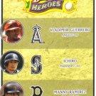 2008 Upper Deck Heroes  #186 Vladimir Guerrero / Ichiro Suzuki / Manny Ramirez