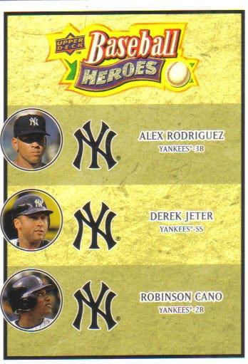 2008 Upper Deck Heroes  #188 Alex Rodriguez / Derek Jeter / Robinson Cano   Yankees