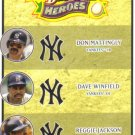 2008 Upper Deck Heroes  #190 Don Mattingly / Dave Winfield / Reggie Jackson