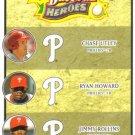 2008 Upper Deck Heroes  #191 Chase Utley / Ryan Howard / Jimmy Rollins   Phillies