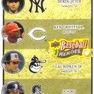2008 Upper Deck Heroes  #196 Derek Jeter / Ken Griffey Jr. / Cal Ripken Jr. / Ichiro Suzuki