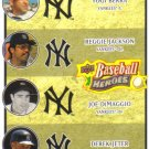 2008 Upper Deck Heroes  #197 Yogi Berra / Reggie Jackson / Joe DiMaggio / Derek Jeter   Yankees