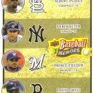 2008 Upper Deck Heroes  #200 Albert Pujols / Derek Jeter / Prince Fielder / David Ortiz
