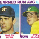 1982 Topps  #167 Nolan Ryan / Steve McCatty  '81 ERA Leaders