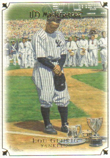 2007 Upper Deck Masterpieces  #8 Lou Gehrig   Yankees