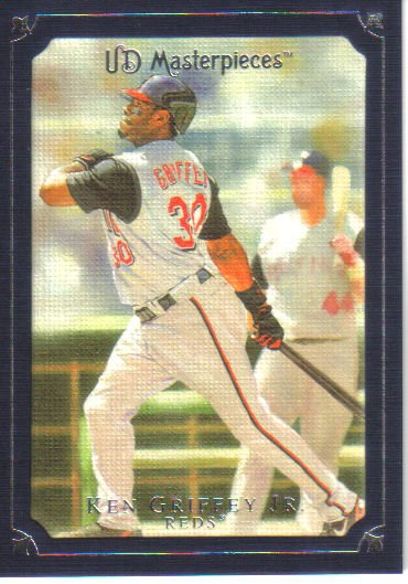 2007 Upper Deck Masterpieces Deep Blue Border  #29 Ken Griffey Jr.   Reds  /75