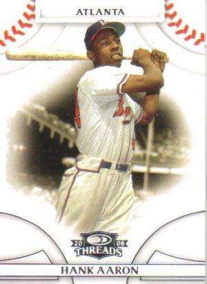 2008 Donruss Threads  #1 Hank Aaron   Braves