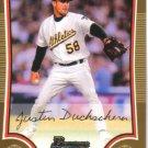 2009 Bowman Gold  #83 Justin Duchscherer   A's
