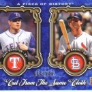 2009 Upper Deck Piece of History Cut From Same Cloth  #AH Josh Hamilton / Rick Ankiel  /999