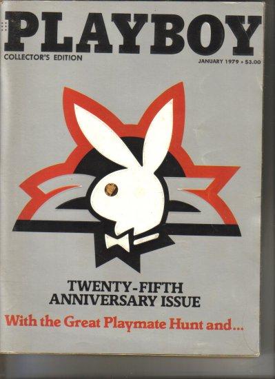 January 1979  Playboy Magazine   25th Anniversary Issue