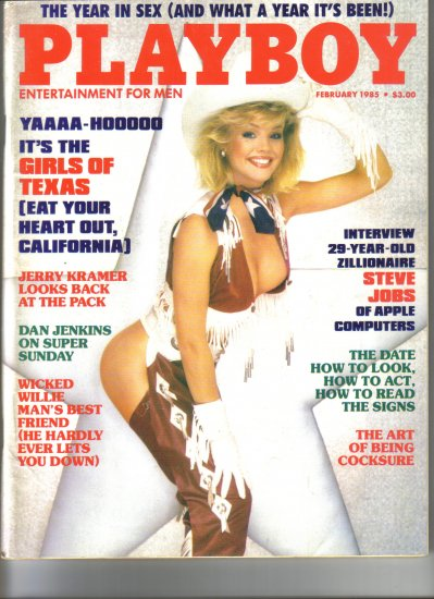 February 1985  Playboy Magazine    Julie McCullough Cover