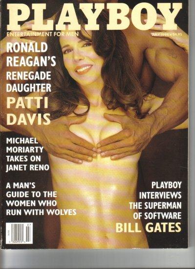 July 1994  Playboy Magazine   Patti Davis  Traci Adell