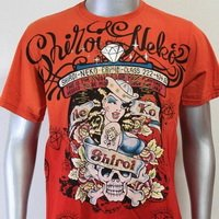 SHIROI NEKO T-shirt Tattoo Rock Skull Punk Mens Code : A003 Size=L