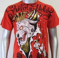 SHIROI NEKO T-shirt Tattoo Rock Skull Punk Mens Code : A007 Size=L