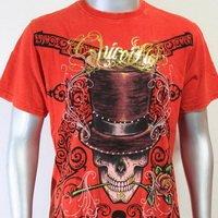 SHIROI NEKO T-shirt Tattoo Rock Skull Punk Mens Code : A014 Size=L