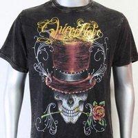 SHIROI NEKO T-shirt Tattoo Rock Skull Punk Mens Code : A035 Size=L