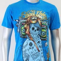 SHIROI NEKO T-shirt Tattoo Rock Skull Punk Mens Code : A040 Size=L