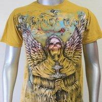 SHIROI NEKO T-shirt Tattoo Rock Skull Punk Mens Code : A053 Size=M