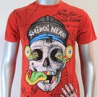 SHIROI NEKO T-shirt Tattoo Rock Skull Punk Mens Code : A057 Size=M