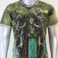 SHIROI NEKO T-shirt Tattoo Rock Skull Punk Mens Code : A063 Size=M