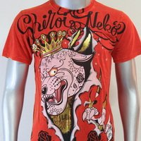 SHIROI NEKO T-shirt Tattoo Rock Skull Punk Mens Code : A064 Size=M