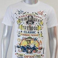 SHIROI NEKO T-shirt Tattoo Rock Skull Punk Mens Code : A082 Size=M