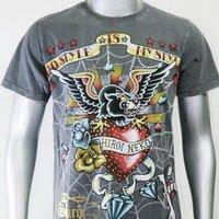 SHIROI NEKO T-shirt Tattoo Rock Skull Punk Mens Code : A087 Size=M