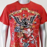 SHIROI NEKO T-shirt Tattoo Rock Skull Punk Mens Code : A086 Size=L