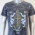 SHIROI NEKO T-shirt Tattoo Rock Skull Punk Mens Code : A018 Size=L