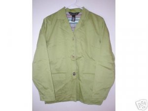 DIALOGUE Lined Sateen Jacket Clip Closure Size 8 SM S MED M Retail $66 Kiwi