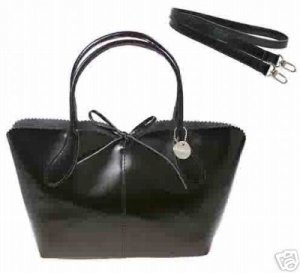 LULU NYC Hobo Handbag Purse with Removable Strap BLACK New