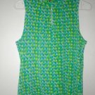 KIM & CO Brand Slinky Prism Sleeveless Tank Top SM MED