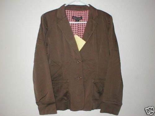 DIALOGUE Modal Blend Notch Collar Jacket 4 XS Espresso