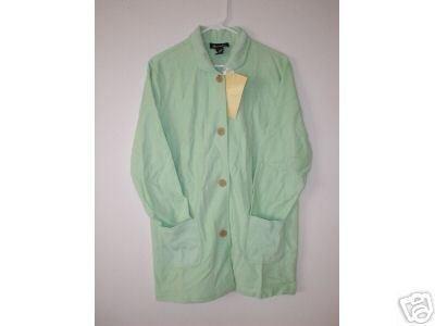 DENIM & CO Jacket w/ Waffle Knit Collar & Pockets SM S