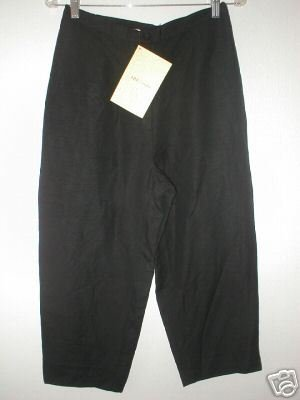 Chinese Yi Lin Linen/Rayon Lined Crop Pants MEDIUM M Size 12 QVC Black