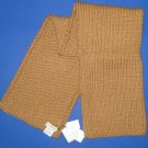 """NWT Dries Van Noten Unisex 100% Wool Handknit Camel 10"""" x 53"""" Scarf"""