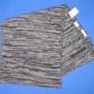 "NWT Barneys New York Wool Cashmere Knit Scarf 12""x 60"" - Black/Cloud"
