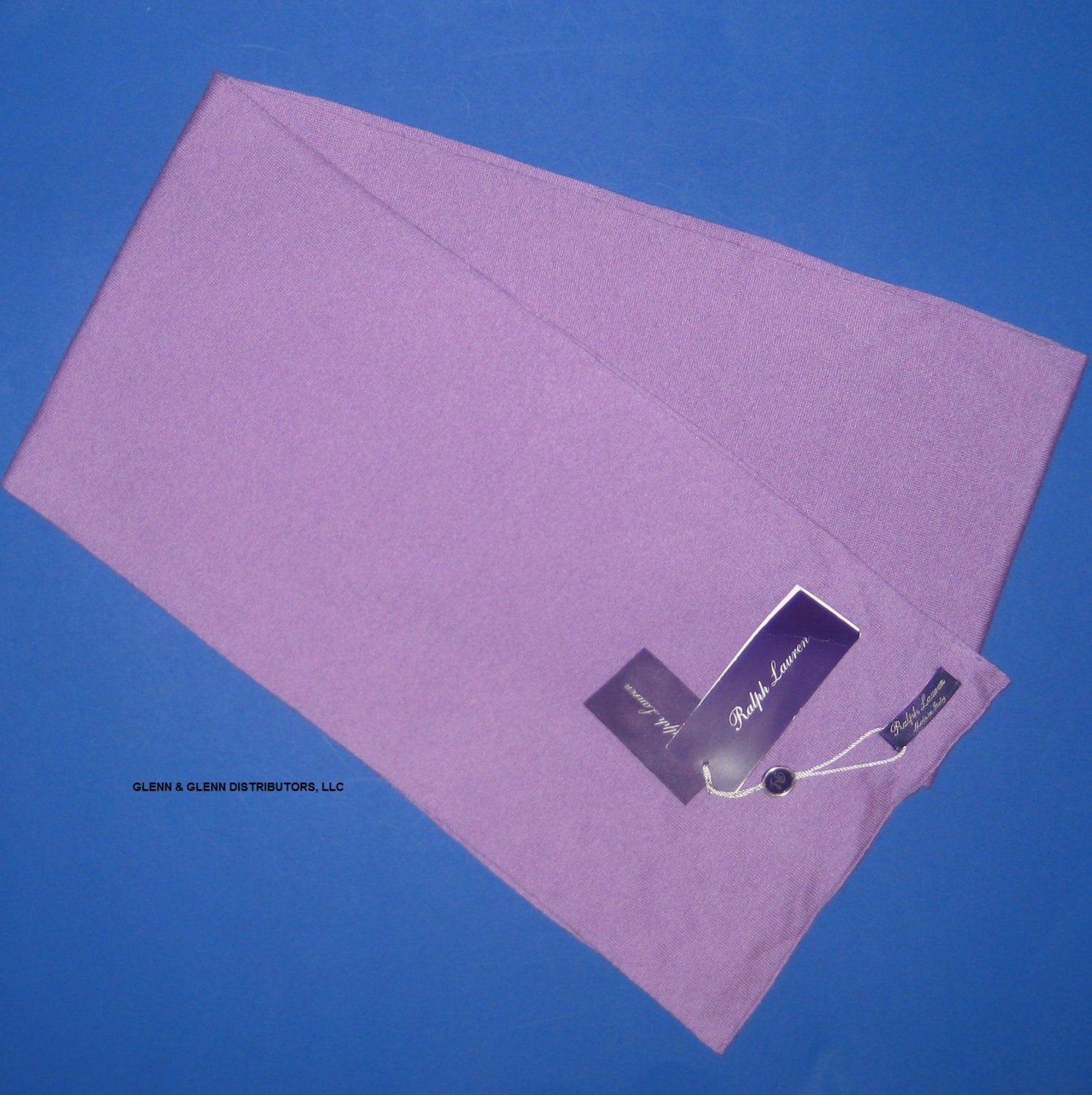 "NWT Ralph Lauren Purple Label Lavender Purple 100% Cashmere Scarf 9.5""x76"""