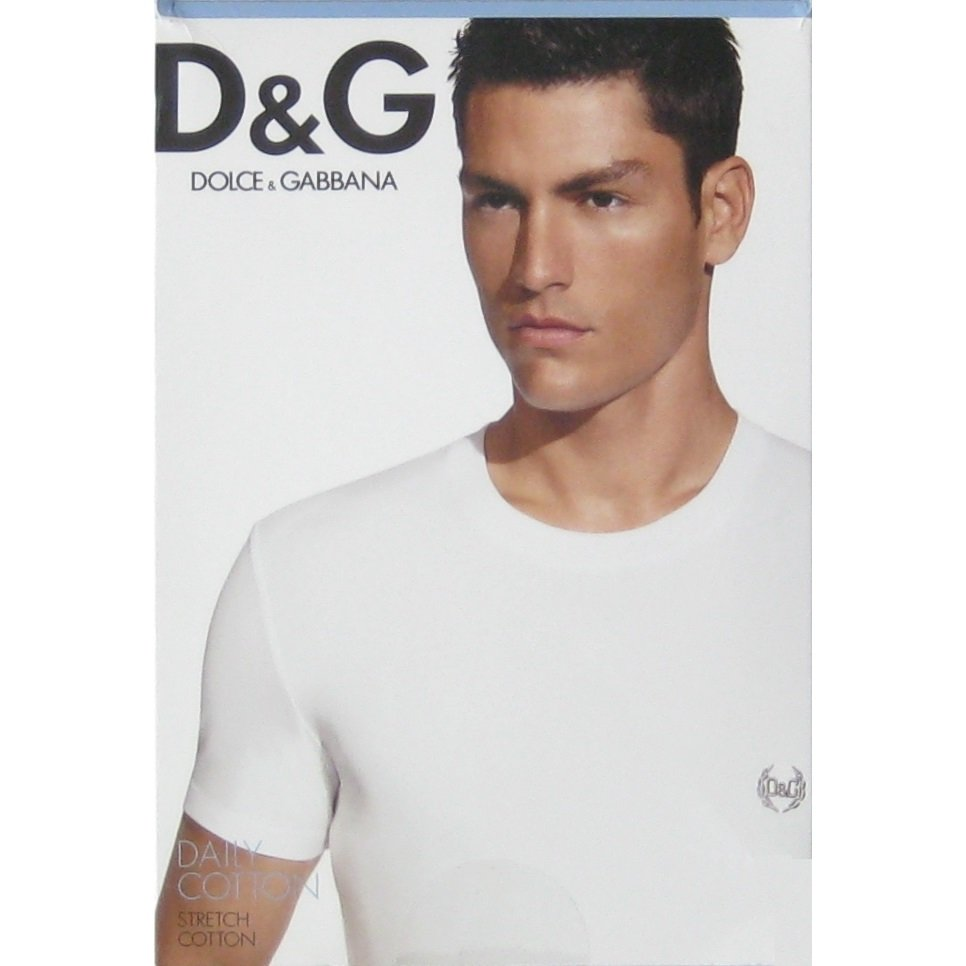 NIB Dolce & Gabbana D & G Daily Cotton Blue Round Neck T-Shirt Undershirt - XS