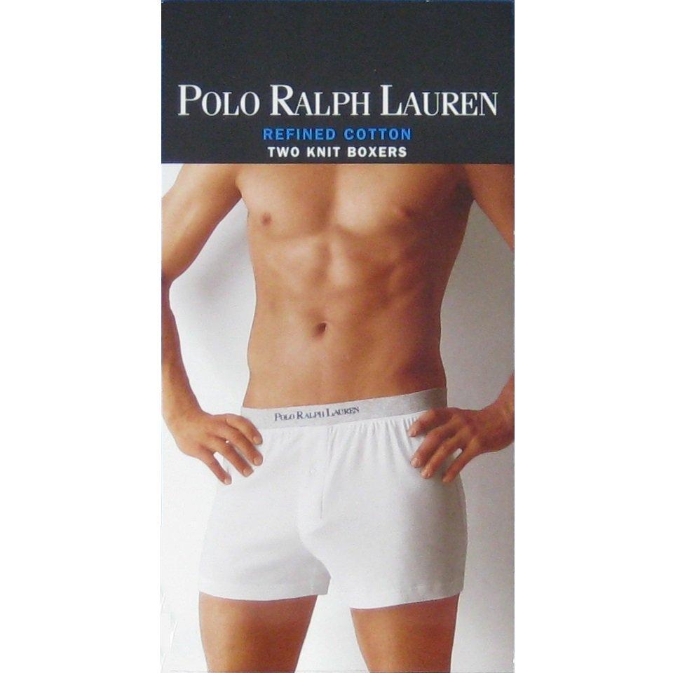 NIP Polo Ralph Lauren White 100% Cotton Refined Knit Boxers 2-Pack #P284 - XL